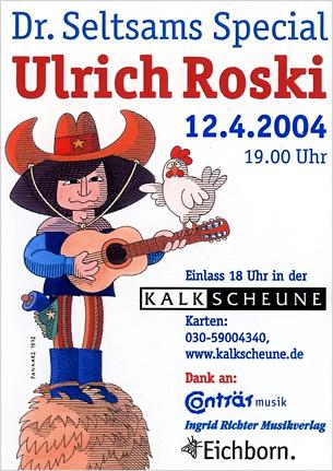 Flyer zur Benefizveranstaltung 2004